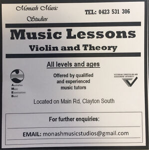 Violin and theory lessons Clayton South Kingston Area Preview