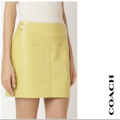 Coach Leather Skirt NWT Size 0 $650