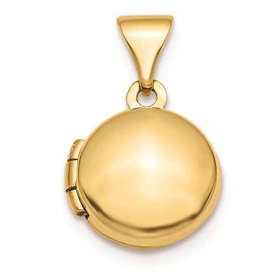 14K Gold Polished Domed Round Locket Charm Pendant MSRP - Locket 14k Gold Charm