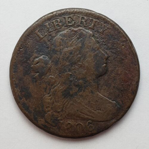1806 Draped Bust Large Cent VG Corroded