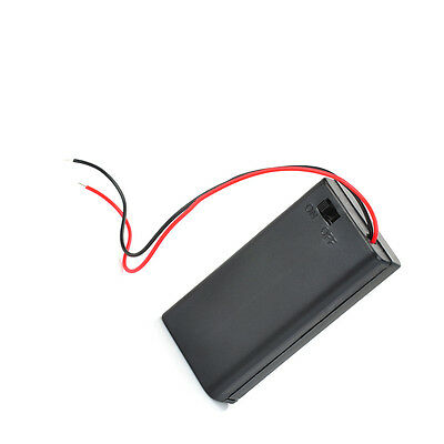1pcs 2 Aa 2a Battery Holder Box Case With Onoff Switch And Cover 2aa Battery Ca