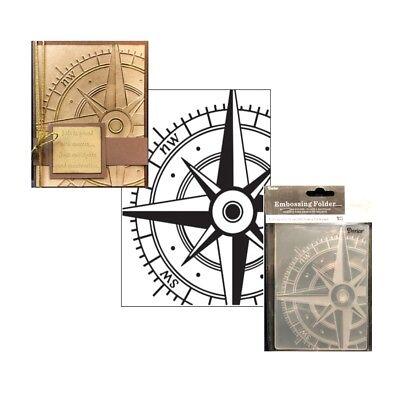 Compass embossing folder Darice Cuttlebug Compatible folders Travel Vacation Cuttlebug Embossing Folder