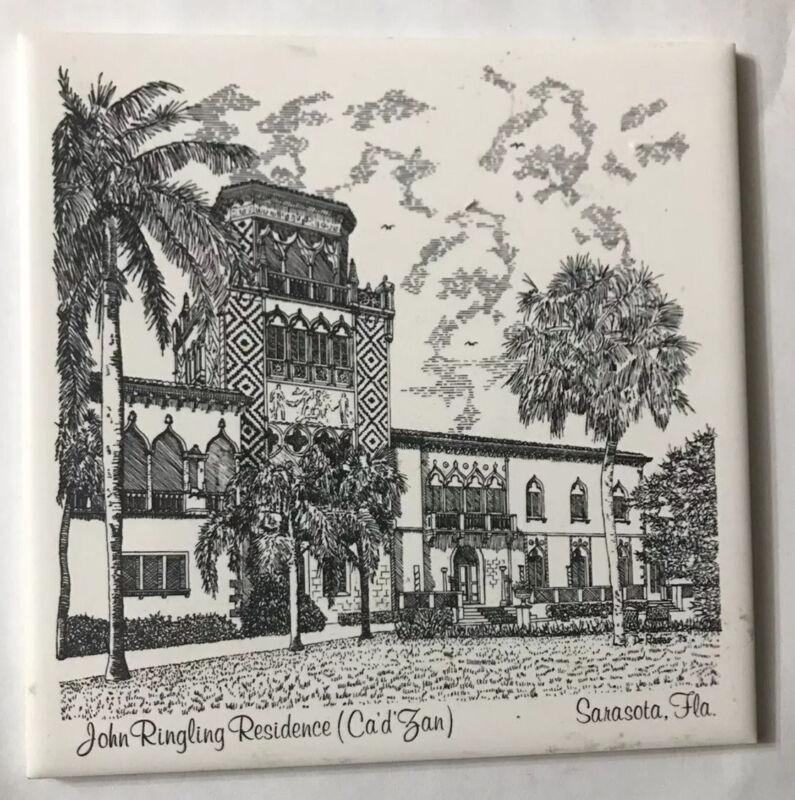 Trivet Ceramic Accent Wall Tile John Ringling Resident Ca