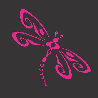 Dragonfly Pink 318- Die Cut Vinyl Window Decal/Sticker for Car/Truck](Pink Dice For Car)