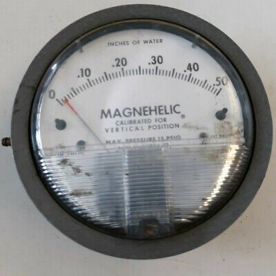 Dwyer Instruments Magnehelic Inches Of Water Gauge Max Pressure 15 Psig 2000-0c