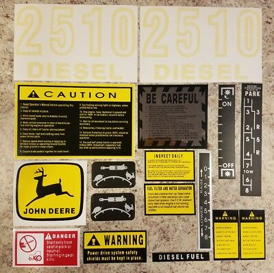 John Deere 2510 Complete Decal Set