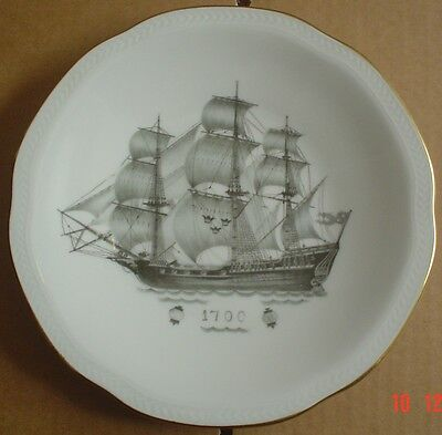 Rörstrand Collectors Plate WITH COMPLIMENTS OF SVENSKA ORIENT LINIEN 1700