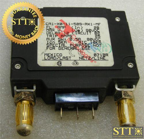 Ca1-x0-11-509-ax1-mf Carling 20 Amp Bullet Breaker 80 Vdc 1 Pole