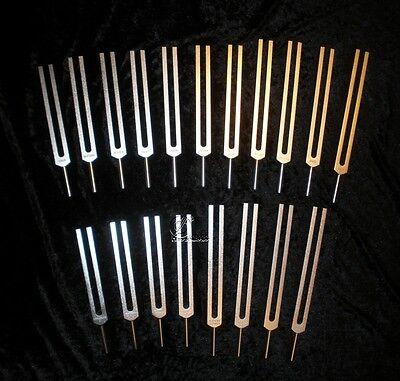 19 Phonophorese Stimmgabel Set Planetenton Stimmgabeln - Tuning Forks Diapason