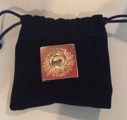 Estee Lauder Solid BEAUTIFUL Antique Sun Compact MIB w/ Pouch - .02 Oz.
