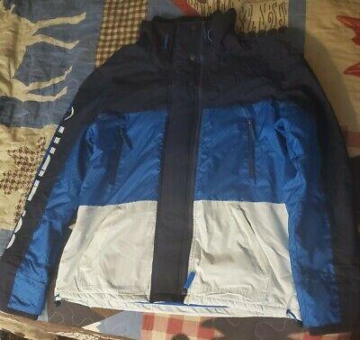 Superdry Arctic Skipper SD-Windattacker Jacket - Sz. 3XL Multi Blue Coat Warm