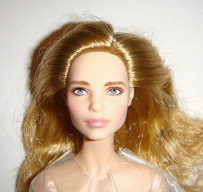 Nude Barbie Blonde Hair Super Model Muse Blue Eye Barbie Dolls For Ooak nv1