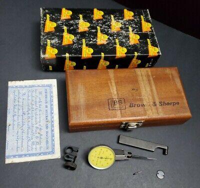 Brown Sharpe Best Test 2um Dial Indicator Set Swiss Made 7033-10 Machinist
