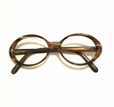 Vintage Frame France Oval Brown Tortoise 46-18 Eyeglasses Thick Rad Iris (Frame France Vintage Glasses)