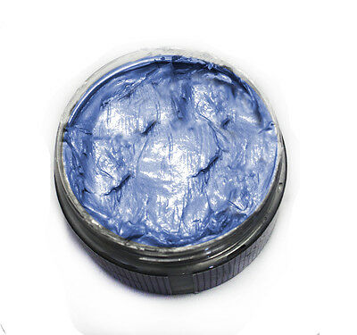 Ash Blue Washable Colored Styling Hair Wax Pomade for Men and Women Unisex - Blue Washable Hair Dye