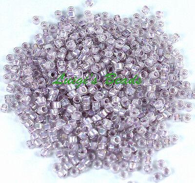 (11/0 TOHO Treasures Glass Seed Beads #786- Rainbow Crystal/Pale Lavender)