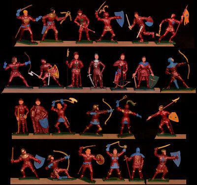 Starlux Red Knights - Set of 25 in 25 Poses! - 60mm Painted - only 1 set