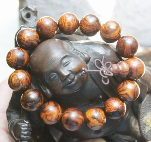 RARE ** Gorgeous Natural Chinese Hainan Huanghuali Preyer Buddha Beads Bracelet
