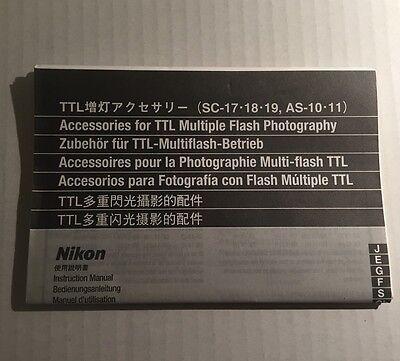 Инструкции и руководства Nikon TTL Accessories