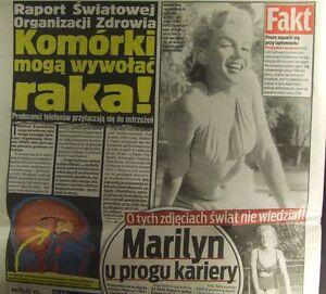 Marilyn Monroe, Naomi Campbell newspaper from Poland 2011 - <span itemprop=availableAtOrFrom>europe, Polska</span> - Zwroty są przyjmowane - europe, Polska