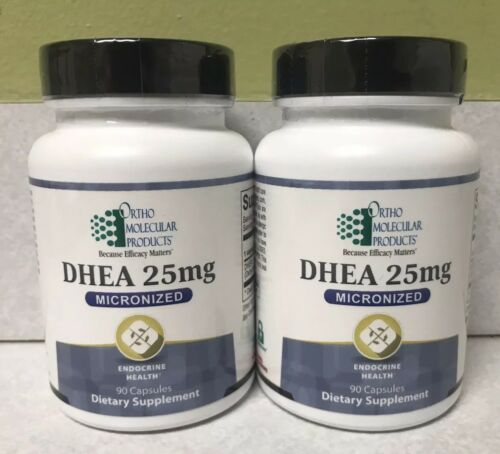 Lot Of 2 Ortho Molecular DHEA 25 Mg 90 Capsules (180 Total) Exp 9/21 FRESHEST