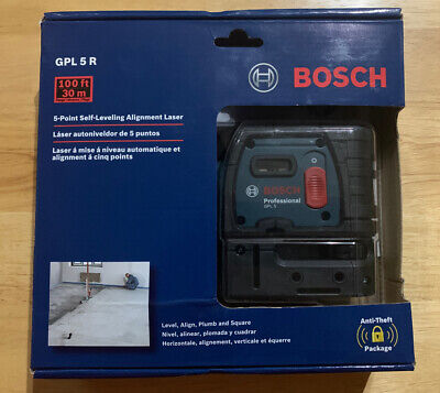 BOSCH GPL 5 R Self Leveling 5-Point Alignment Laser 100 Feet  New Sealed Broken