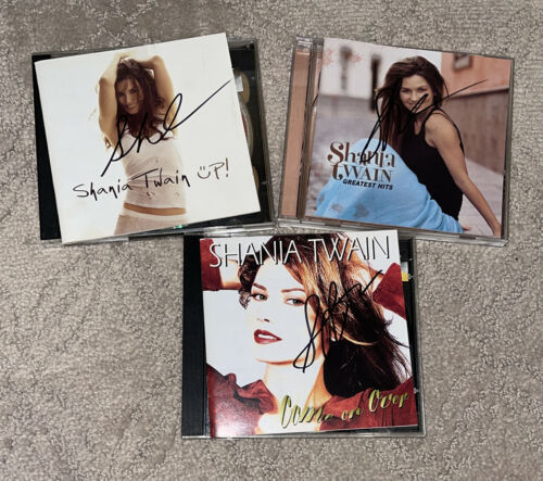 Shania Twain Signed CD Bundle - Up Come On Over Greatest Hits Autographed - $99.99