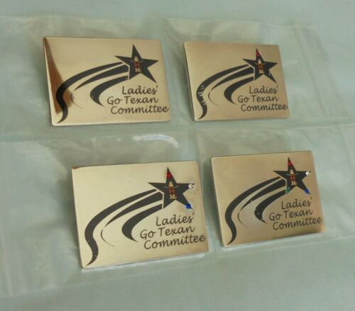 Texas Houston Livestock Show and Rodeo Ladies Go Texan Committee Lapel Pin Lot