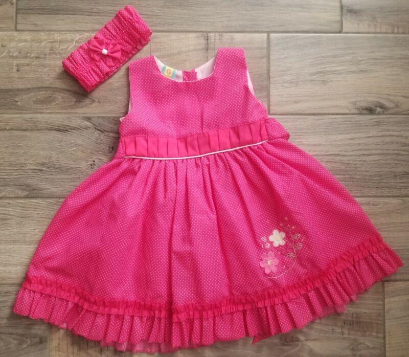 Baby girl dress 2T Puff Dress & Headband set Pink princess Toddlers birthday