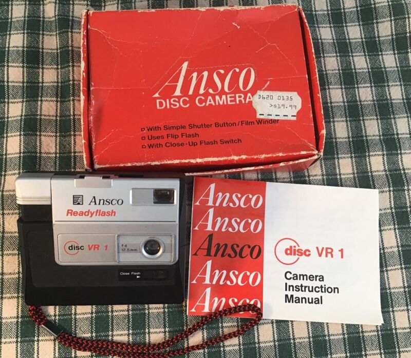 Ansco Readyflash Disc VR1 Camera with Original Paperwork And Box Great Condition