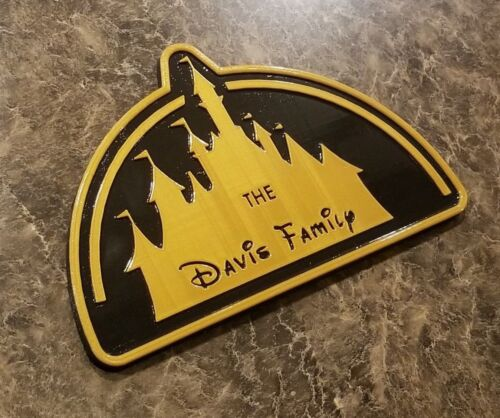 Personalized / Customize-able Disney Inspired Castle Family Name Plaque / Sign