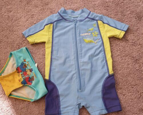 2tlg Badeanzug +Badehose Sonnenschutzanzug Baby Jungen Gr 74/80 Lupilu UV Schutz