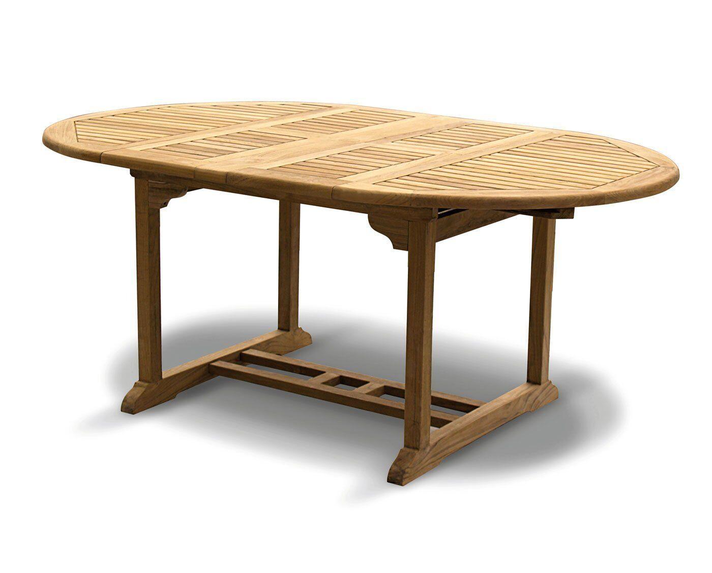 Details about Oxburgh Premium Teak Extendable Garden Table 8.8-8.8m -  Double Lead Extending