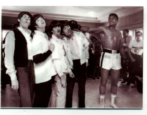 Muhammad Ali with the Beatles METAL trading card - Boxing -  Music