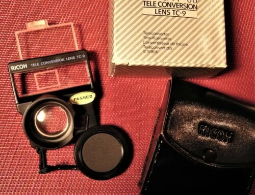 Tele Conversion Lens TC-9 with case for Ricoh FF90 camera. NEW !