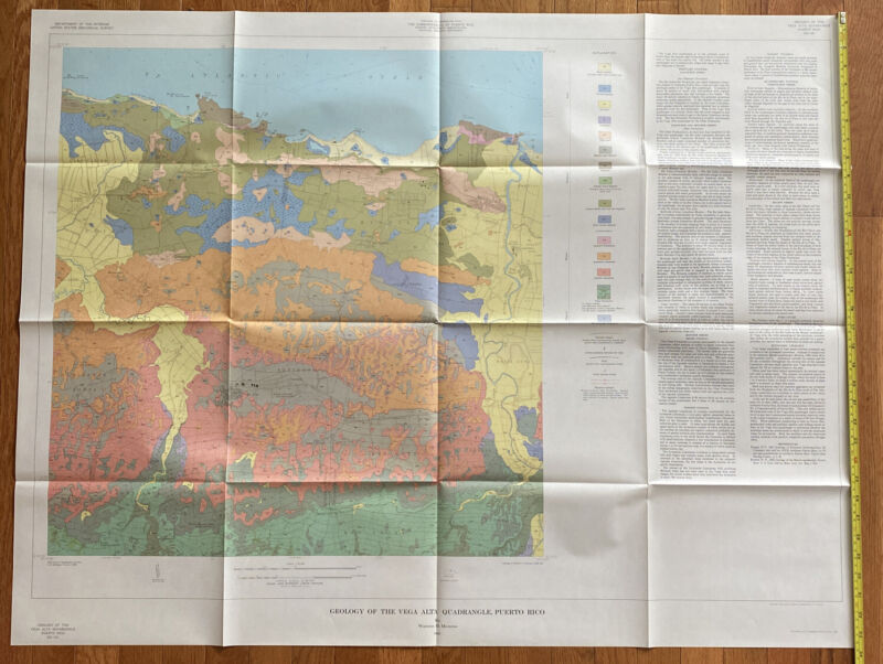 Vintage Map Of The Vega Alta Quadrangle, Puerto Rico 1963
