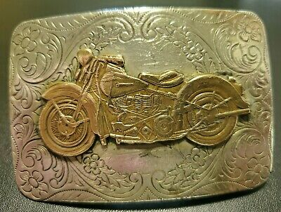 VINTAGE COLLECTIBLE GYPSY TOUR, HARLEY DAVIDSON, INDIAN MOTORCYCLE BELT BUCKLE