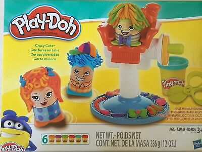 Play-Doh Crazy Cuts Barbershop Playset. New