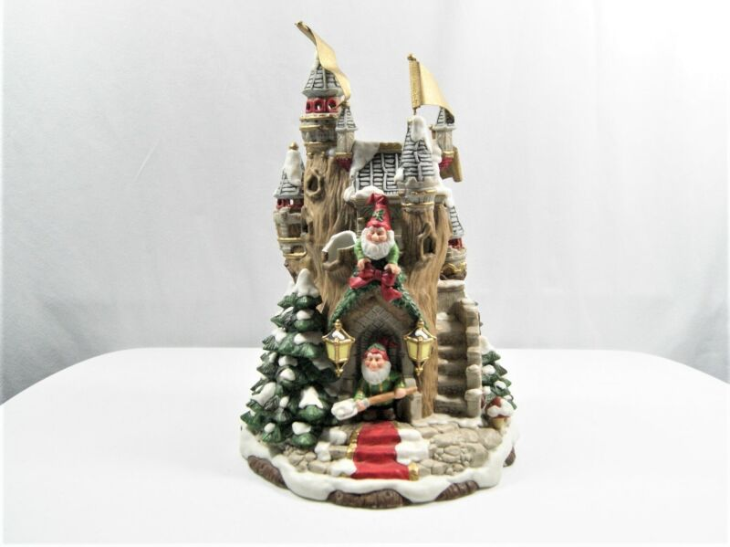 """Fitz and Floyd Holiday Hamlet Tannenbaum Castle Collectible 13"""" Tall"""