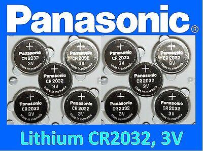 **Save $1, Buy Any 2 packs** 10 pieces Panasonic CR2032 3v Fresh Lithium battery