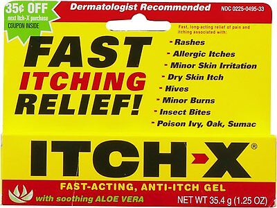 2 Pack - Itch-X Anti-Itch Gel Itch Relief 1.25 Oz Each