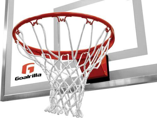 NEW Goalrilla Heavy-Weight Pro-Style Breakaway Basketball Flex Rim and Nylon Net