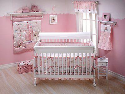 Disney Princess Crib Set Bedding Comforter Baby Girls Nursery 3 Piece Bed New
