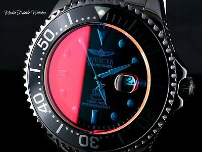 Invicta 54mm Grand Diver Automatic Tinted Crystal High Polished Bracelet Watch