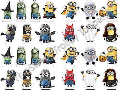 26 x MINIONS DESPICABLE ME HALLOWEEN *PREMIUM* edible cup cake toppers STAND UPS