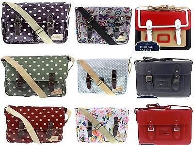 Vintage Unisex Faux Leather Large & Small Satchel/School Bag/ University Bag