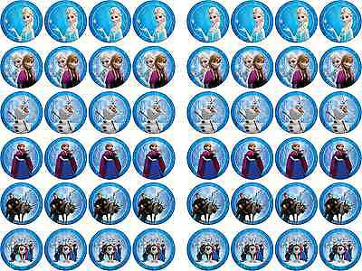 Frozen Themed Birthday Cake (Disney Frozen Themed Edible Rice Paper Cupcake Birthday Cake)
