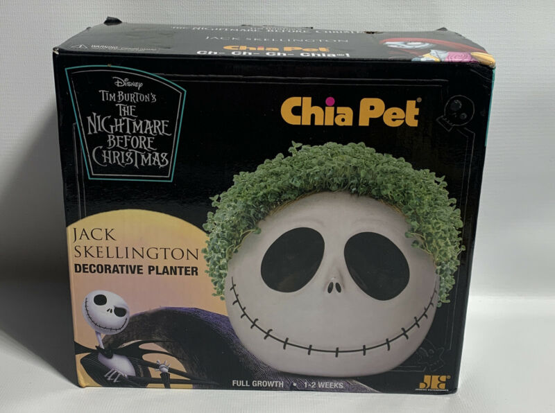 DISNEY THE NIGHTMARE BEFORE CHRISTMAS JACK SKELLINGTON CHIA PET PLANTER