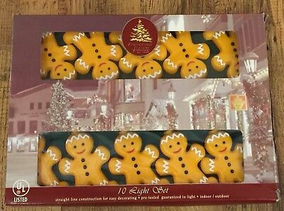 New Christmas Novelty Lights Gingerbread Man 10 Light Set Enchanted Forest ()