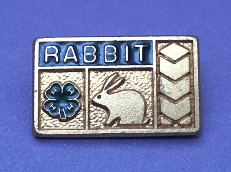 Vintage 4-H RABBIT Award Lapel Pin PRIZE WINNING HARE - 4H Club Honor